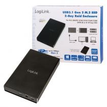 Logilink External HDD enclosure M.2 USB 3.1 Gen2 2-bay RAID